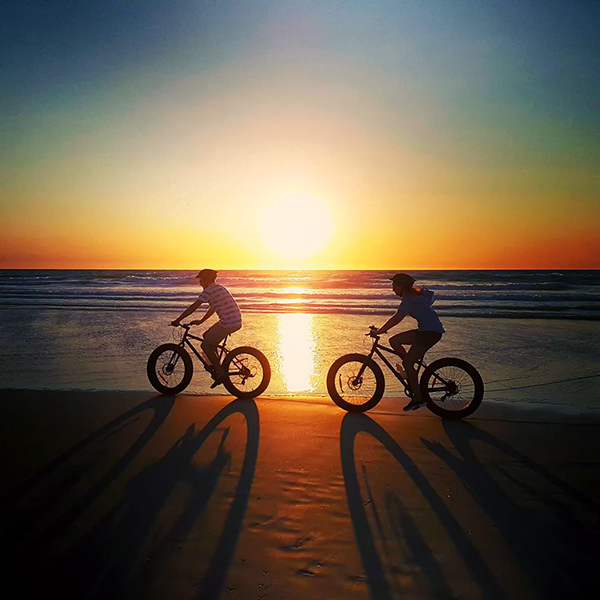 Riding along Broome's world famous Cable Beach