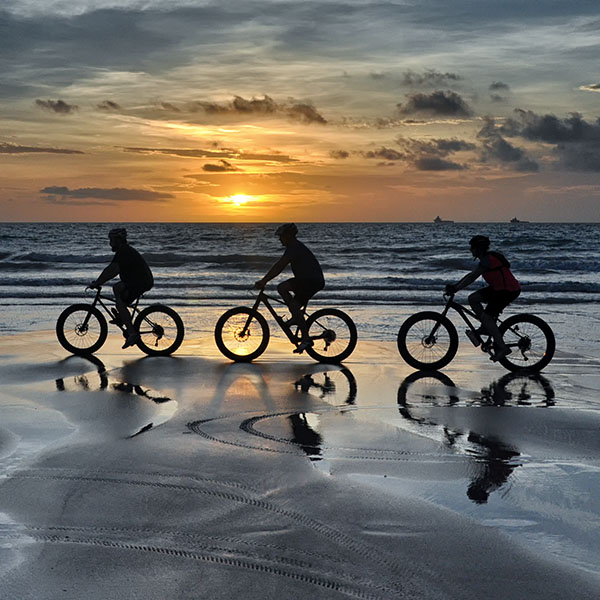 Great way to see a Cable Beach Sunset Broome Adventures Fat Bike tours.