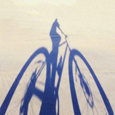 Long shadows on the Broome Fat Bike adventure.