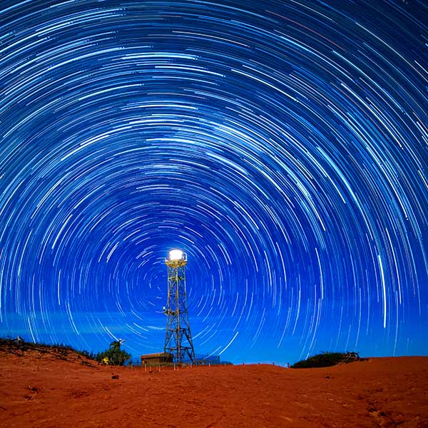 Gantheaume Point Lighhouse in Broome with star trail photography