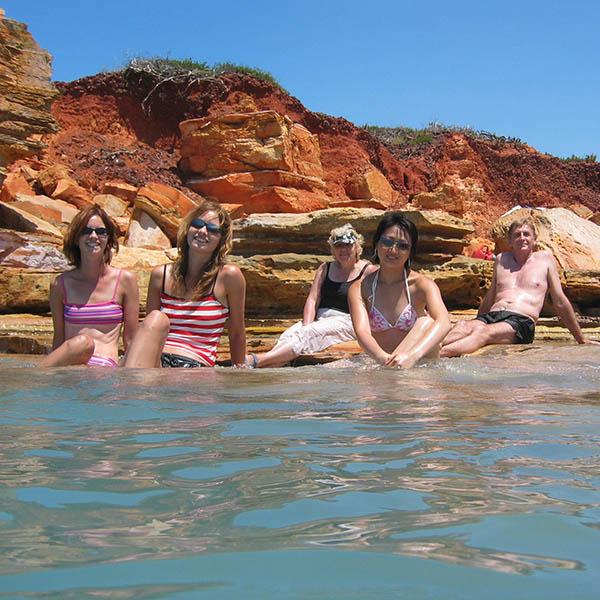 Amazing swimming spots around the coastline of Broome.